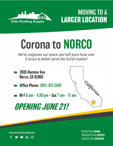 We're Moving Elite Corona to Norco CA on June 2021