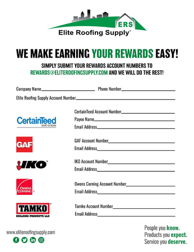 Elite Rewards Programs Form