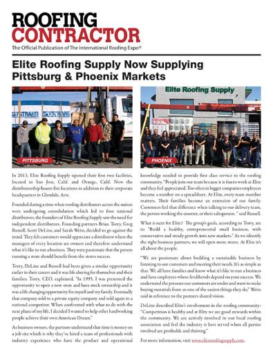 Roofing Contractor Magazine - Phoenix and Pittsburg - 2016